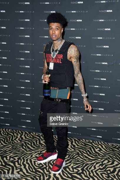 Blueface attends the Fashion Nova x Cardi B Collection Launch Party at Hollywood Palladium on May 08 2019 in Los Angeles California