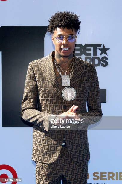 Blueface attends the Pantene Style Stage at the 2019 BET Awards at the 2019 BET Awards at Microsoft Theater on June 23 2019 in Los Angeles California