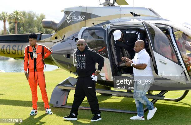 Blueface, Birdman, and guest attend Republic Records Celebrates Their Class Of 2019 In Coachella Valley at Zenyara on April 14, 2019 in Coachella,...