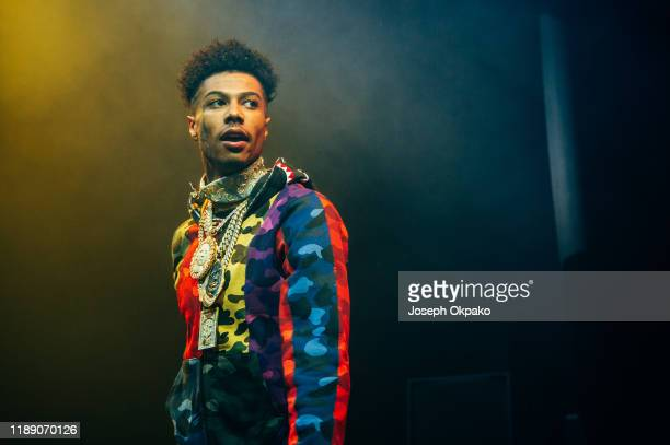 Blueface perform at O2 Academy Brixton on November 20, 2019 in London, England.