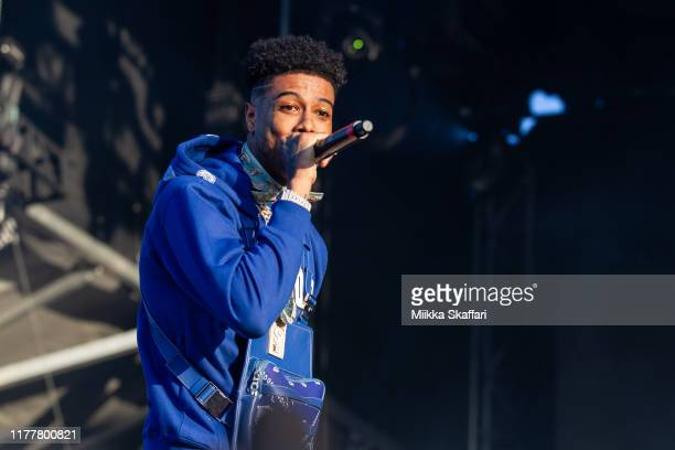 Blueface performs at Rolling Loud festival at OaklandAlameda County Coliseum on September 28 2019 in Oakland California