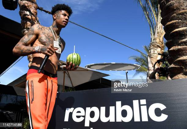 Blueface performs onstage during Republic Records Celebrates Their Class Of 2019 In Coachella Valley at Zenyara on April 14, 2019 in Coachella,...