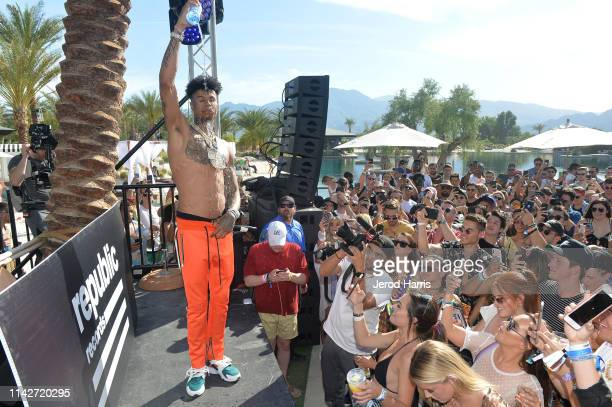 Blueface performs onstage during Republic Records Celebrates Their Class Of 2019 In Coachella Valley at Zenyara on April 14 2019 in Coachella...