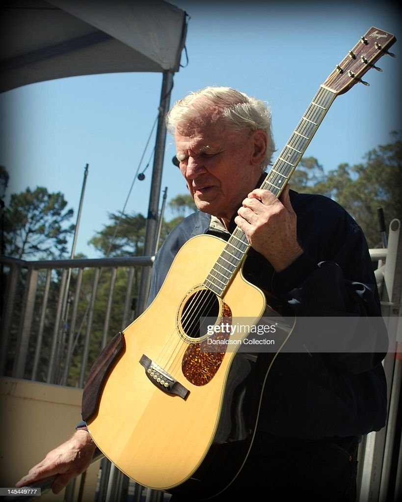 Bluegrass musician Doc Watson leaves the stage after performing at the Hardly Strictly Bluegrass Festival in Golden Gate Park on October 3, 2009 in San Francisco, California.
