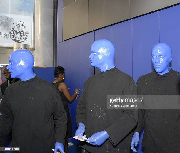 BlueManGroup during Blue Man Group Makes their Broadway Debut at Swatch Times Square at Swatch Times Square in New York City New York United States