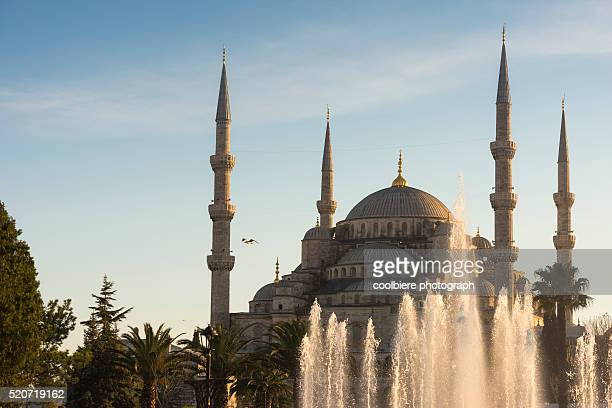 bluemosque with fountain foreground - blue mosque mazar e sharif stock pictures, royalty-free photos & images