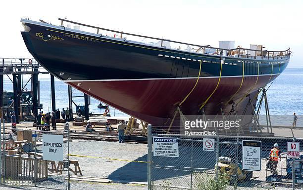 Bluenose II Rebuild, Moving the Schooner