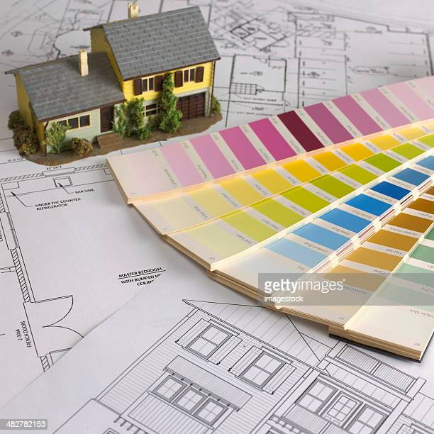 Blueprint and color swatch
