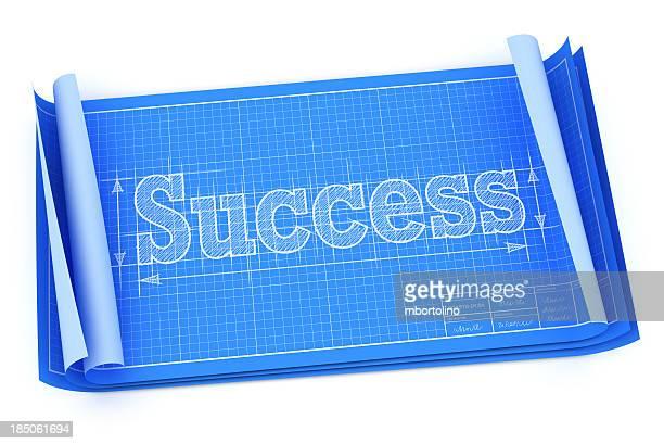 Blueprint concept - plan for success