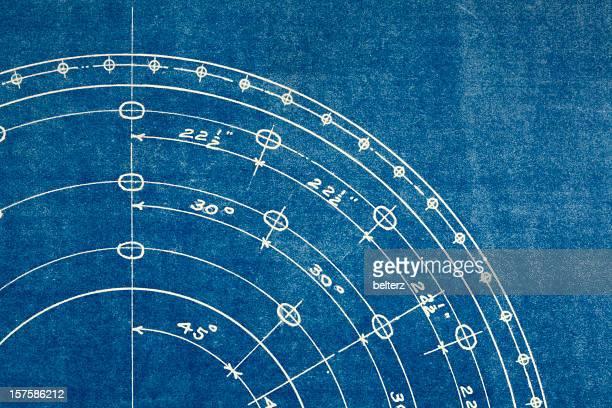 blueprint makro - technische zeichnung stock-fotos und bilder
