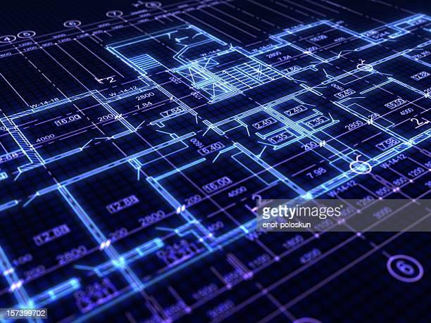 blueprint - blauwdruk stockfoto's en -beelden