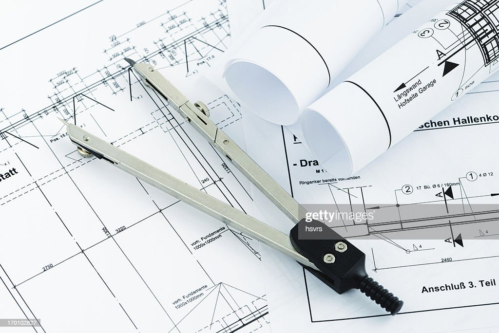 Blueprint plan of house building with drawing compass stock photo blueprint plan of house building with drawing compass stock photo malvernweather Gallery