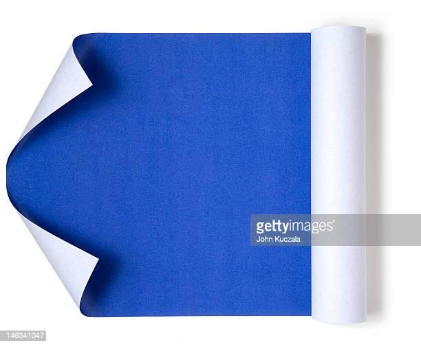 blueprint unrolling - technische zeichnung stock-fotos und bilder