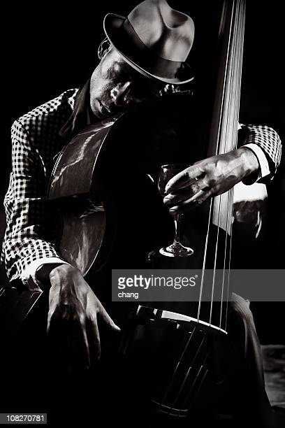 blues and jazz player - jazz stock pictures, royalty-free photos & images