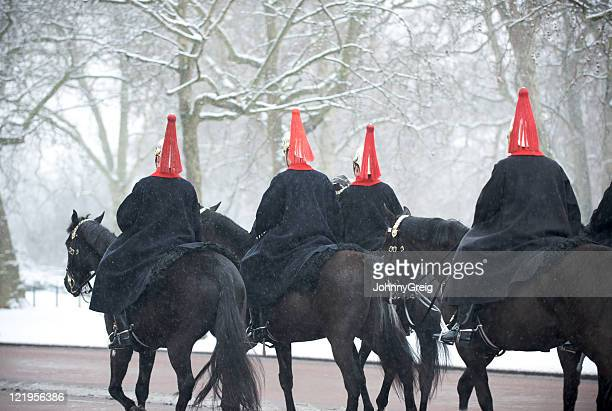 Blues and Royals riding on the Mall