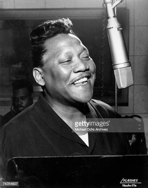 Blues and soul singer Bobby 'Blue' Bland in the recording studio circa 1960 in Nashville Tennessee