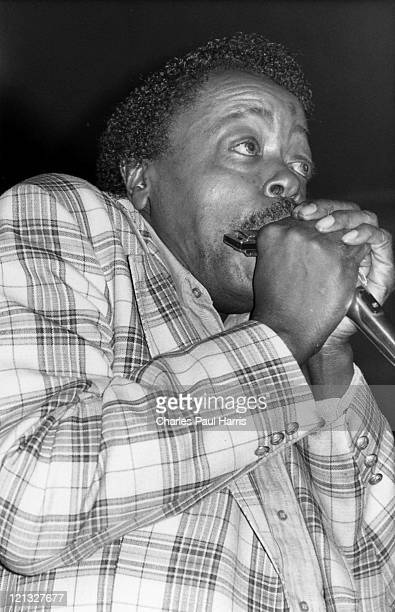 Blues artist Carey Bell performs at the Half Moon, Putney on February 15 1988 in London, England.