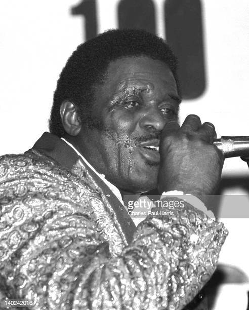 Blues artist Jimmy McCracklin performs onstage at the 100 Club on March 29, 1981 in London, England.
