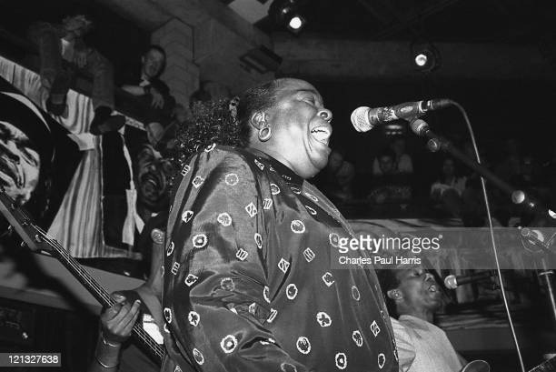 Blues artists Carol Fran and Clarence Hollimon perform at the Blues Estafette, on November 24, 1991 in Utrecht, Holland.