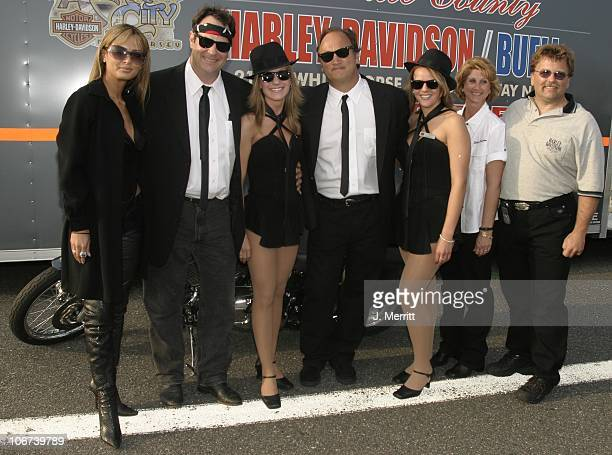 Blues Brothers Dan Aykroyd and Jim Belushi with Harley Davidson and Borgata Babes *Exclusive*