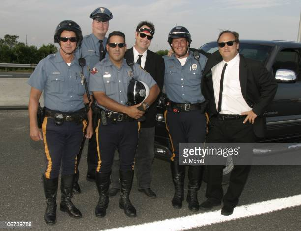 Blues Brothers Dan Aykroyd and Jim Belushi with New Jersey State Police *Exclusive*