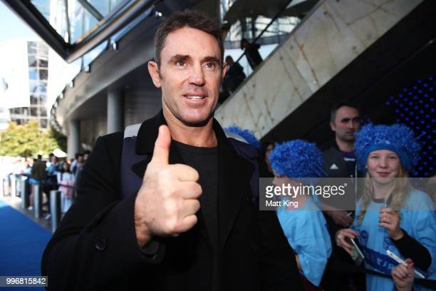 Blues coach Blues coach Brad Fittler arrives at a New South Wales Blues public reception after winning the 2018 State of Origin series at The Star on...