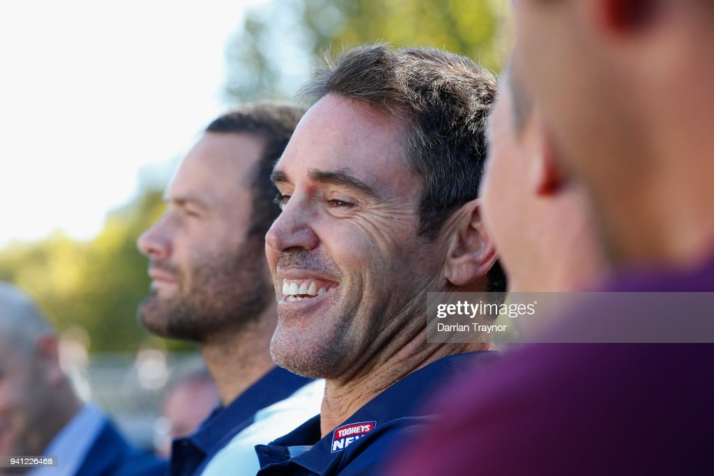 Blues Coach Brad Fittler laughs during the 2018 State of Origin launch at Arbory Afloat on April 3, 2018 in Melbourne, Australia.
