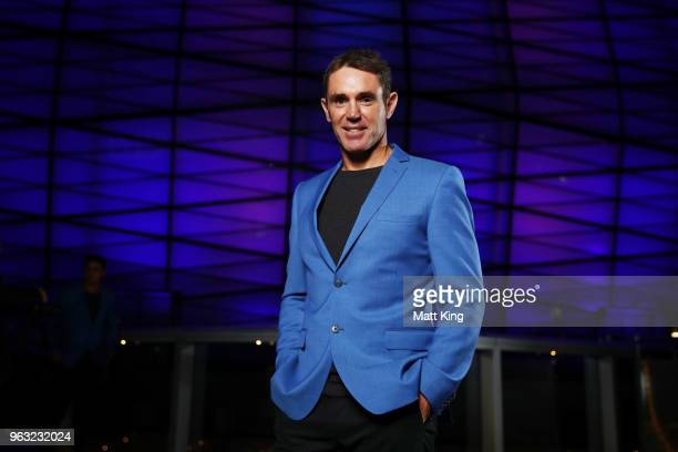 Blues coach Brad Fittler poses during the New South Wales Blues State of Origin Team Announcement at The Star on May 28 2018 in Sydney Australia