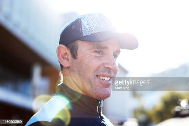 Blues coach Brad Fittler speaks to the media during a New South Wales Blues State of Origin Captain's Run at the NSWRL Centre of Excellence on July...
