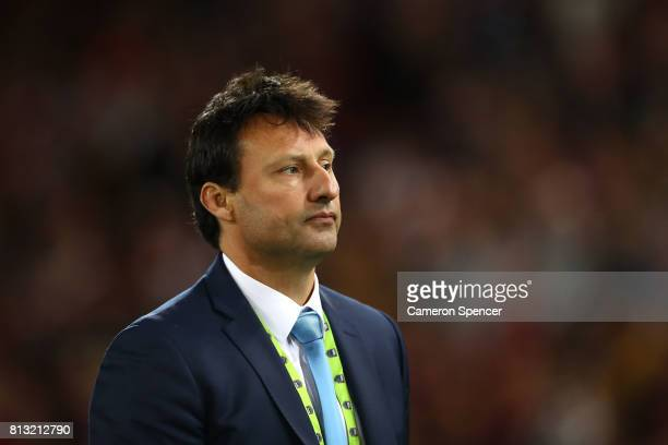 Blues coach Laurie Daley looks dejected after game three of the State Of Origin series between the Queensland Maroons and the New South Wales Blues...