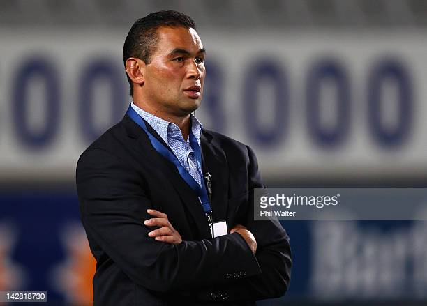 Blues coach Pat Lam before the round eight Super Rugby match between the Blues and the Sharks at Eden Park on April 13 2012 in Auckland New Zealand