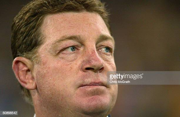 Blues coach Phil Gould watches during game one of the NRL State of Origin Series between the New South Wales Blues and the Queensland Maroons at...