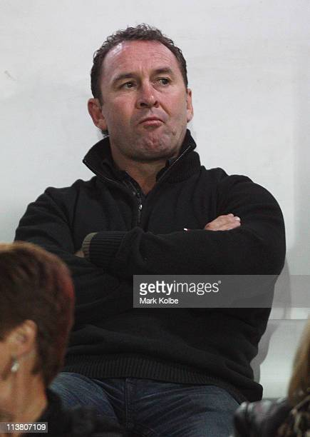 Blues coach Ricky Stuart watches on during the ARL Origin match between Country and City at Lavington Sports Ground on May 6 2011 in Albury Australia