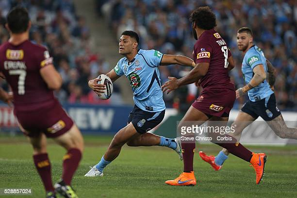 Blue's Daniel Tupou in action during the match against the Maroons at Sydney Olympic Park Sydney Australia Wednesday 27th May 2015