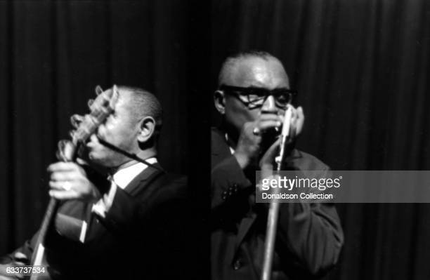 Blues duo Sonny Terry and Brownie McGhee performing at the Apollo Theater in January 1966 in New York New York