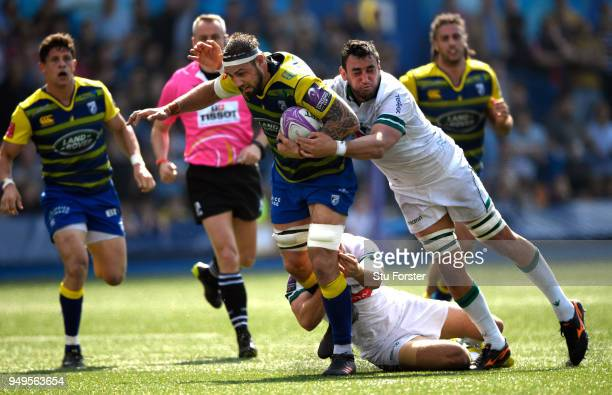 Blues forward Josh Turnbull on the charge during the European Challenge Cup SemiFinal match between Cardiff Blues and Section Paloise at Cardiff Arms...
