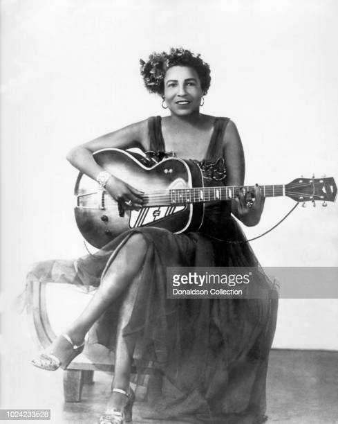 Blues guitarist and singer Memphis Minnie poses for a portrait circa 1928