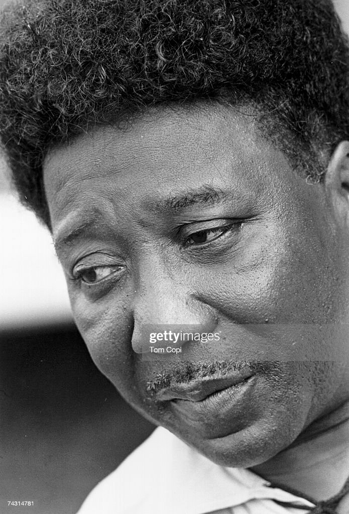 Blues Guitarist and singer Muddy Waters performs at the Ann Arbor Blues Festival in August 1969 in Ann Arbor, Michigan.