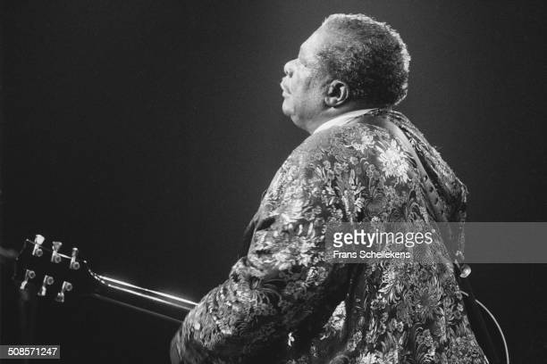 Blues guitarist B.B. King performs at the North Sea Jazz Festival in the Hague, Netherlands on 9th July 1993.
