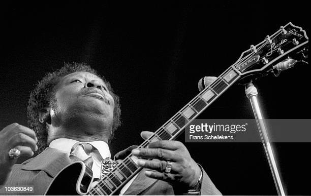 Blues guitarist B.B. King performs live on stage at the North Sea Jazz Festival in The Hague, Netherlands on July 12 1985