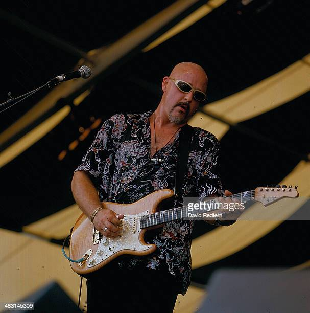 Blues guitarist John Mooney on stage at New Orleans Jazz Festival, 1999.