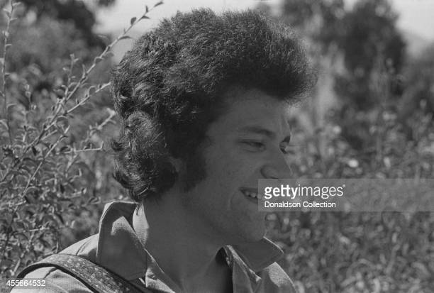 Blues guitarist Michael Bloomfield poses at home in Mill Valley California