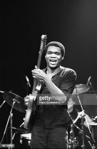 Blues guitarist Robert Cray performs live at Meervaart in Amsterdam, Netherlands on March 29 1985