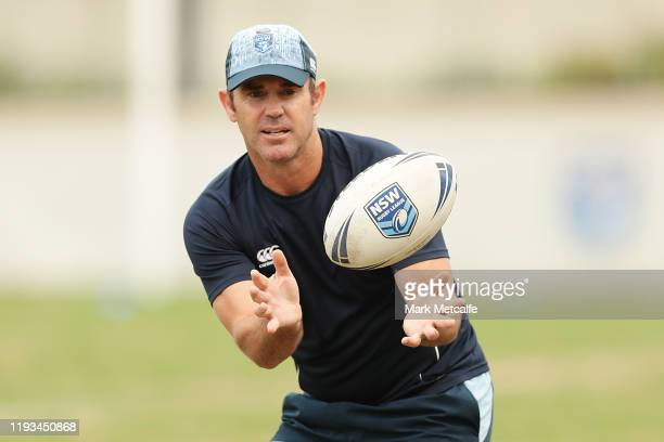 Blues head coach Brad Fittler in action during the Emerging Blues and Future Blues Playing Camp at the NSWRL Centre of Excellence on December 12,...