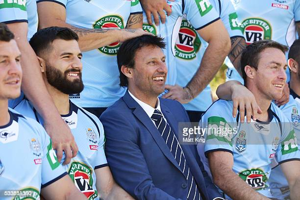 Blues head coach Laurey Daley poses during a New South Wales Blues NRL State of Origin team photo session at The Novatel on May 24 2016 in Coffs...