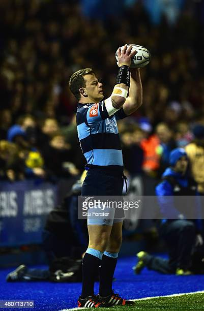 Blues hooker Matthew Rees in action during the Guinness Pro 12 match between Cardiff Blues and Scarlets at on December 19 2014 in Cardiff United...