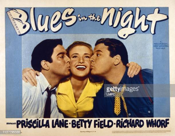 Blues In The Night US lobbycard from left Richard Whorf Priscilla Lane Jack Carson 1941