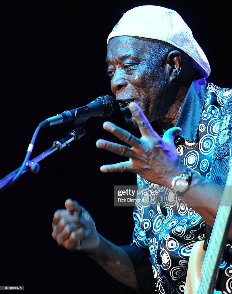 Blues Legend Buddy Guy performs during the 2010 BamaJam Music & Arts Festival at the corner of Hwy 167 and County Road 156 on June 5, 2010 in Enterprise, Alabama.
