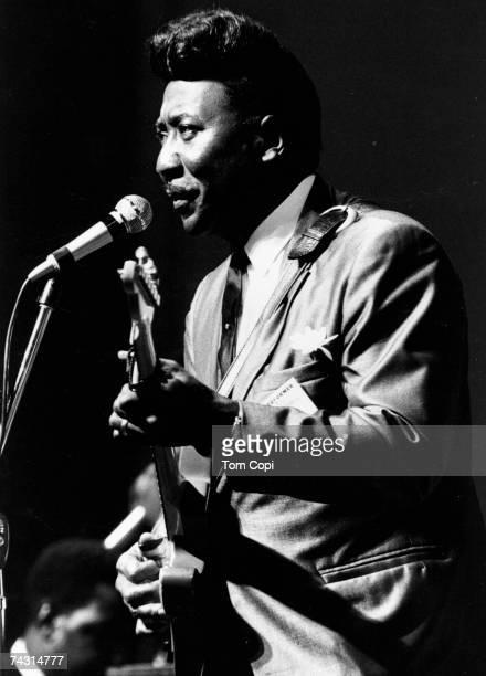 Blues legend Muddy Waters performs at the Newport Folk Festival in July 1967 in Newport Rhode Island