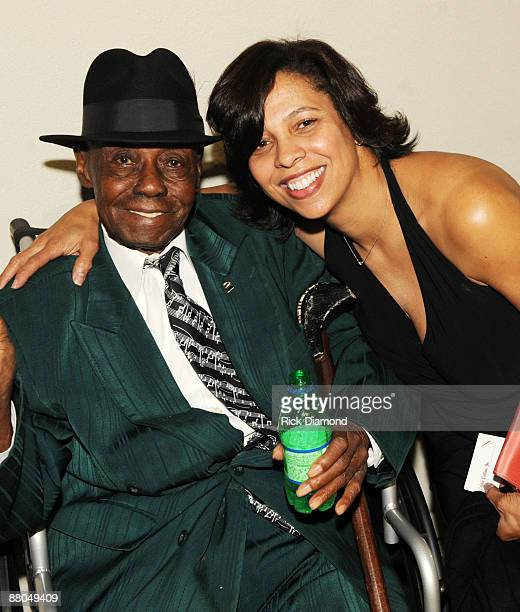 Blues Legend Pinetop Perkins and Angelia BibbsSanders VP Members Services The Recordng Academy at The 3rd Annual 'Mississippi GRAMMY Legacy'...